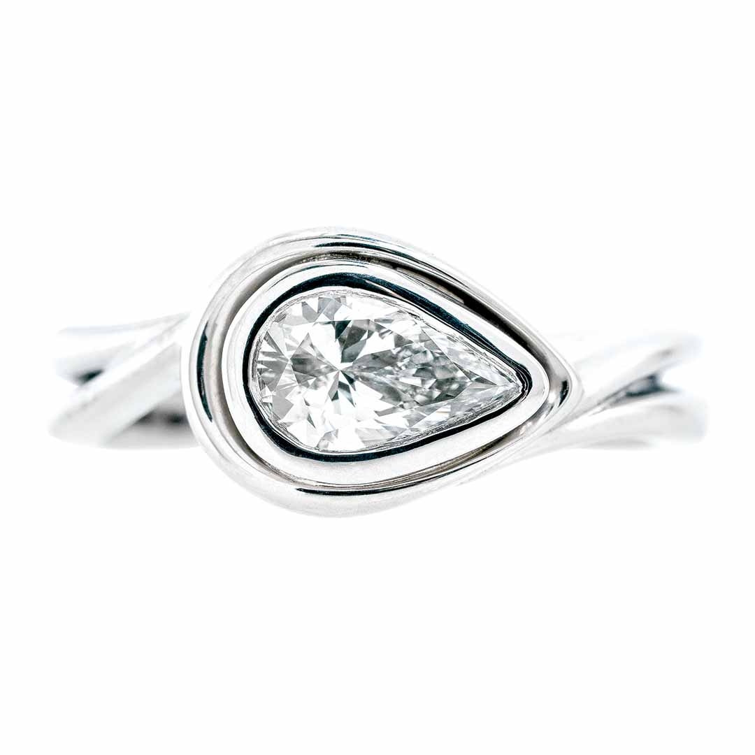 Vintage 0.71 CT Diamond Halo Engagement Ring