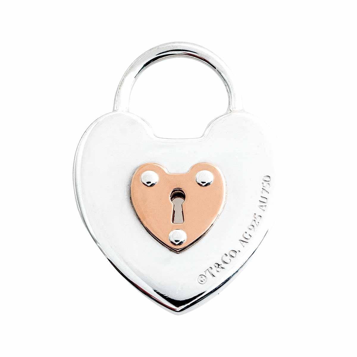 Vintage Tiffany & Co. Heart Key Lock Pendant