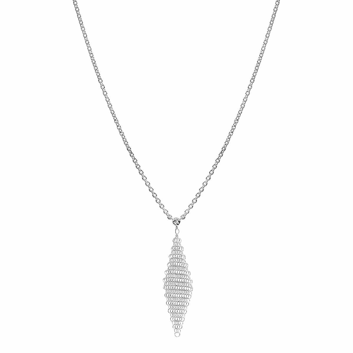 Vintage Tiffany & Co. Elsa Peretti 0.05 CT Diamond Mesh Necklace