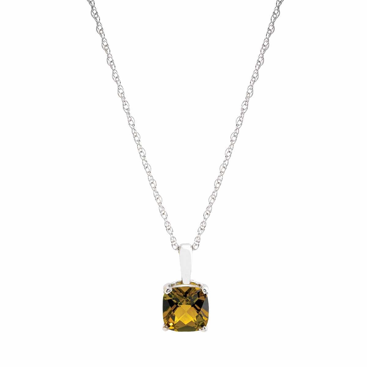 New 1.42 CT Olive Tourmaline Necklace
