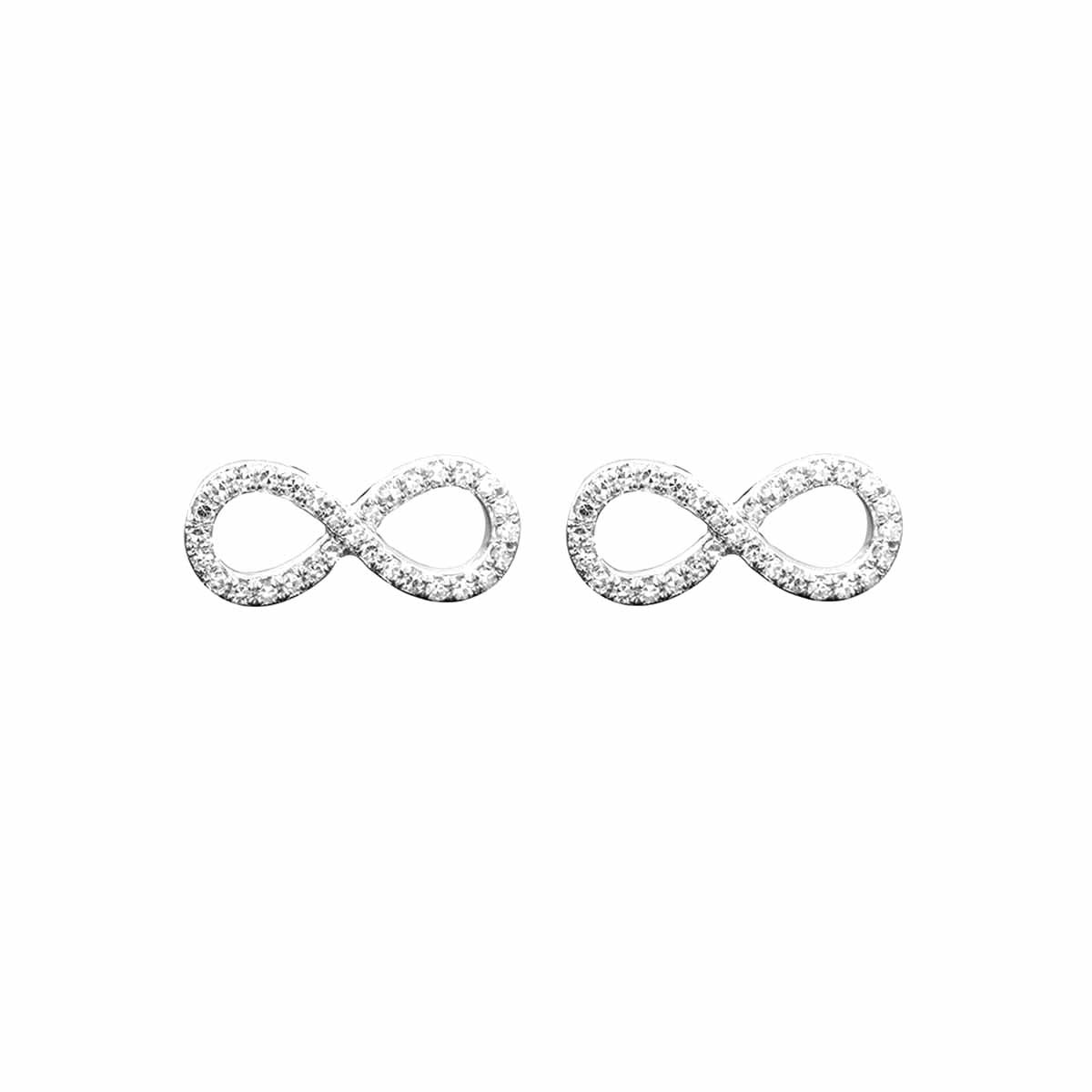 New Venetti 0.18 CTW Diamond Infinity Stud Earrings