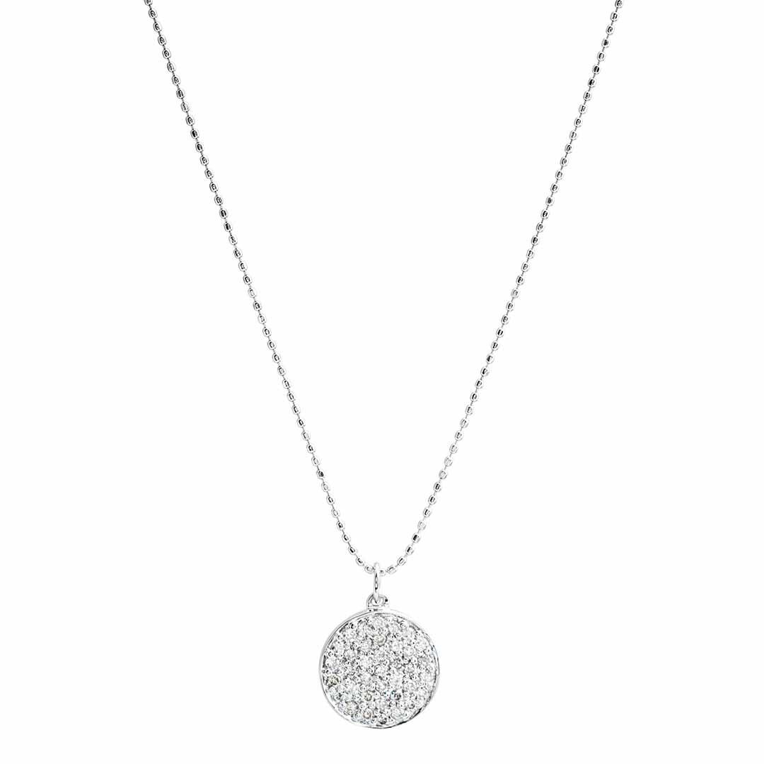 Vintage Sydney Evans 0.37 CTW Diamond Disc Necklace