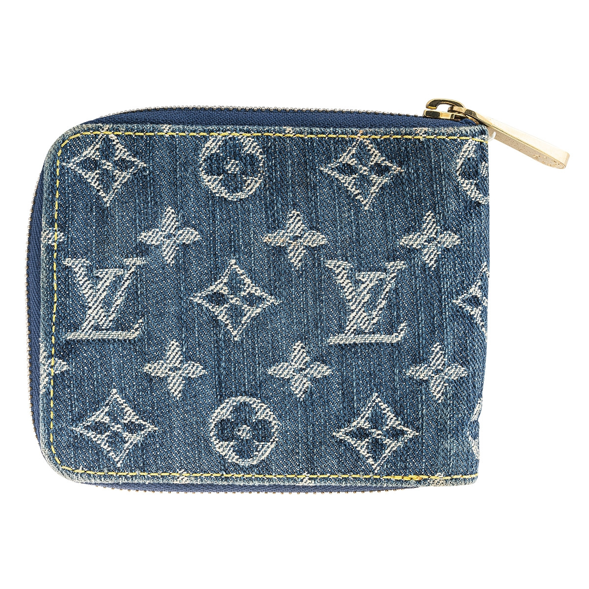 Vintage Denim Louis Vuitton Monogram Small Zippy Wallet