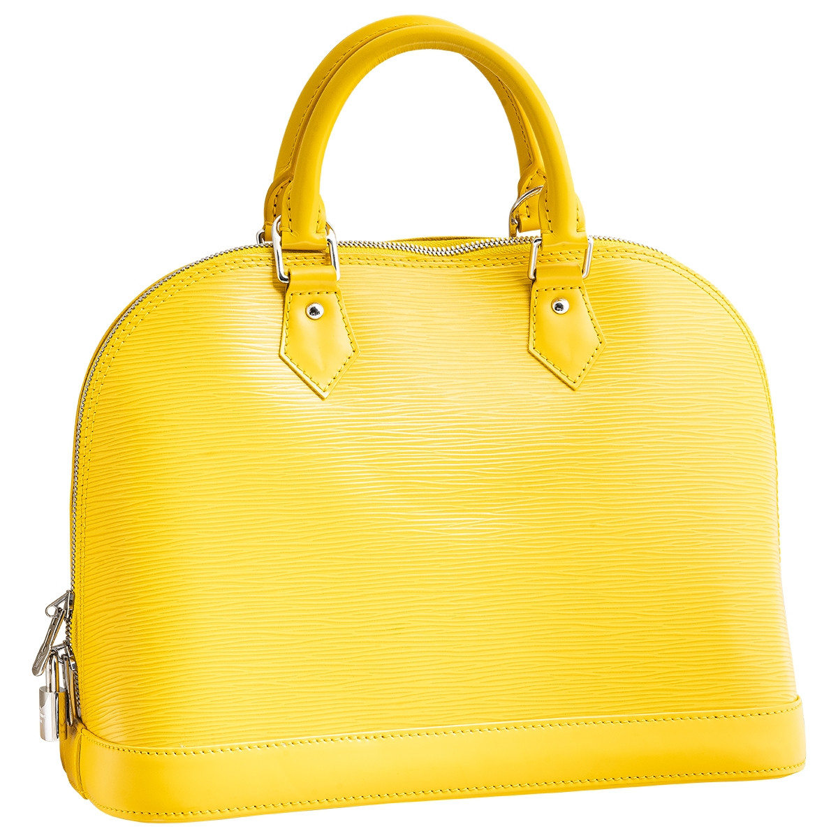 Like New Yellow Louis Vuitton Alma PM
