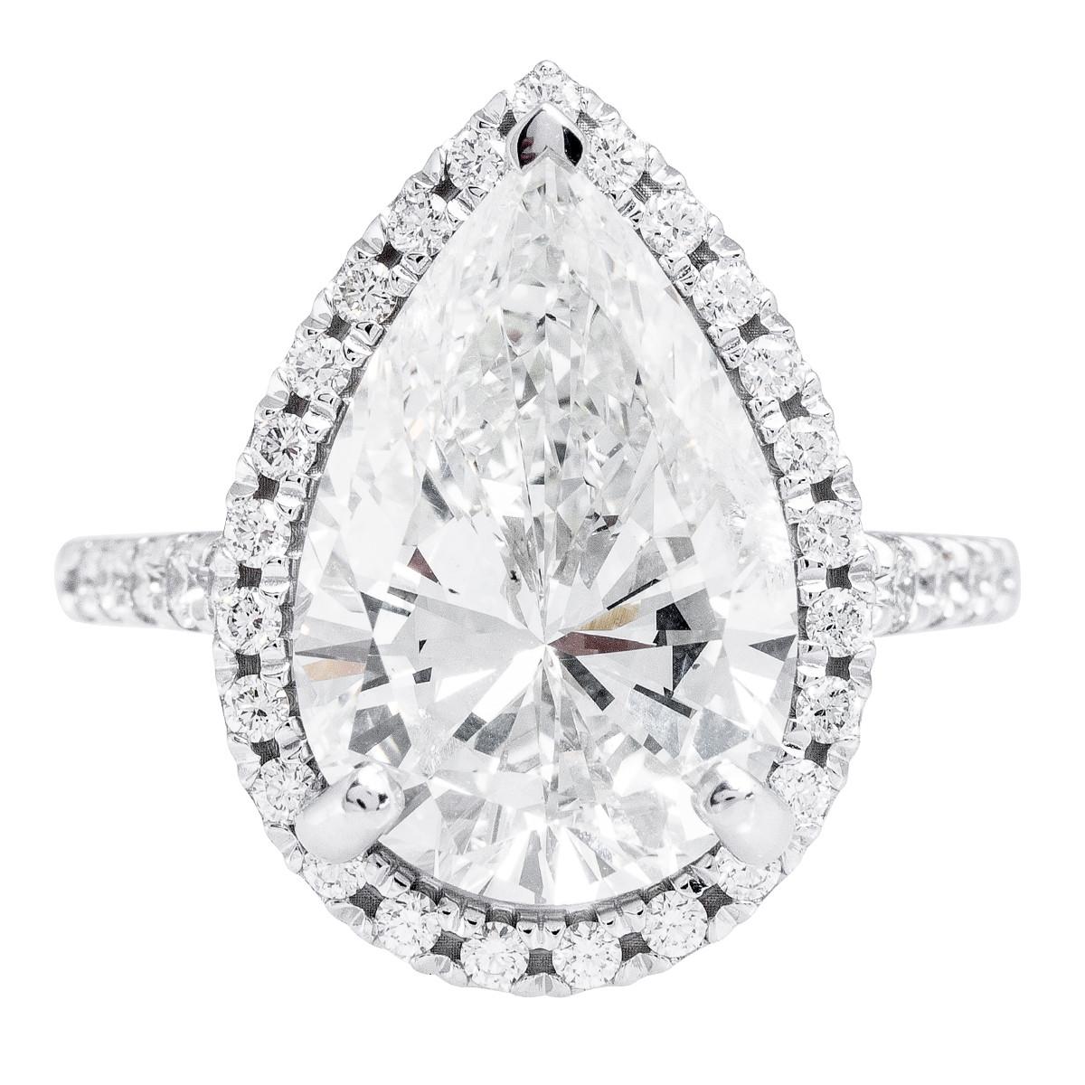 New 7.41 CTW Diamond Halo Engagement Ring