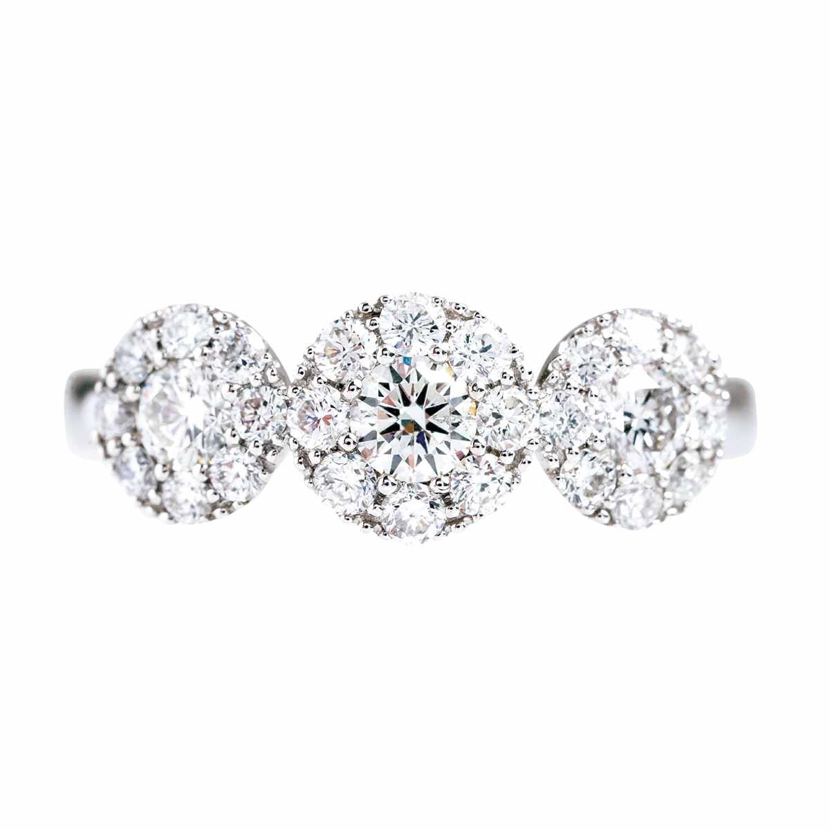 New 0.89 CTW Diamond Halo Ring