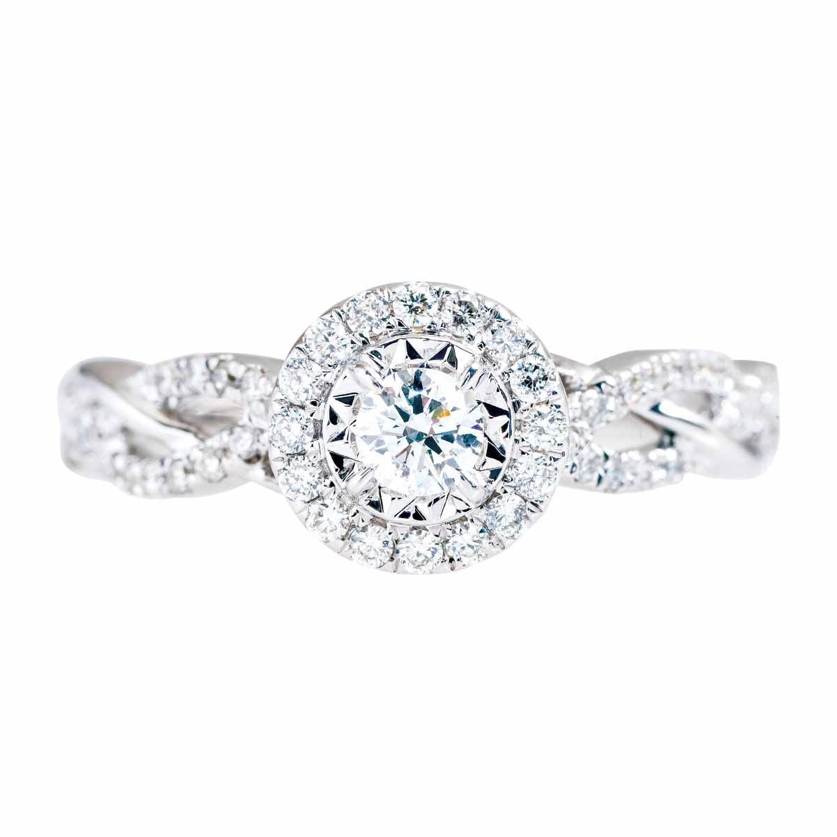 Vintage 0.50 CTW Diamond Halo Engagement Ring