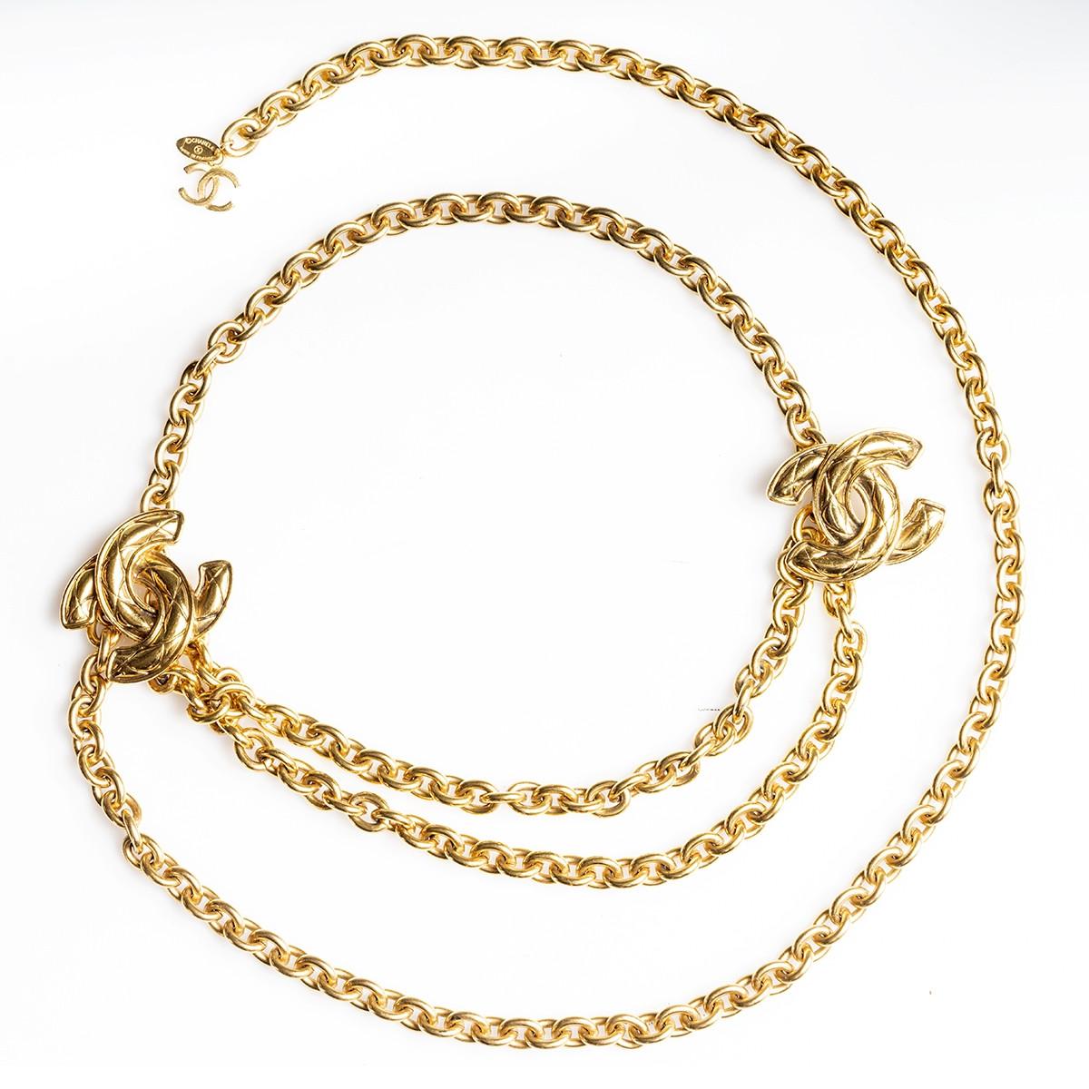 Vintage Chanel CC Chain Belt