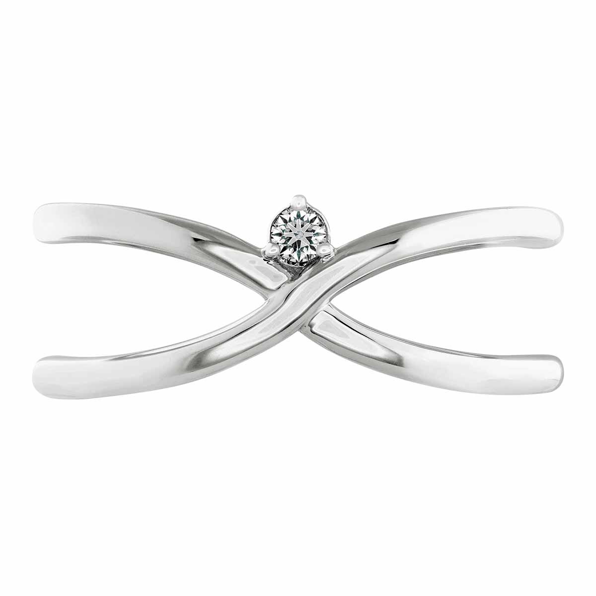 New Hearts On Fire® 0.02 CT Diamond Love Code Love Wrap Band