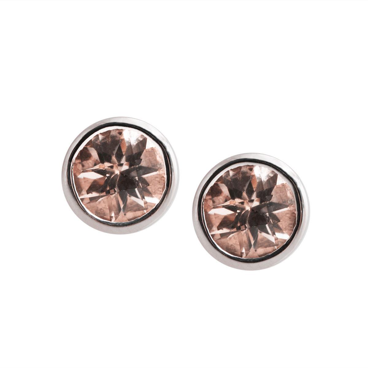 New 0.82 CTW Morganite Stud Earrings
