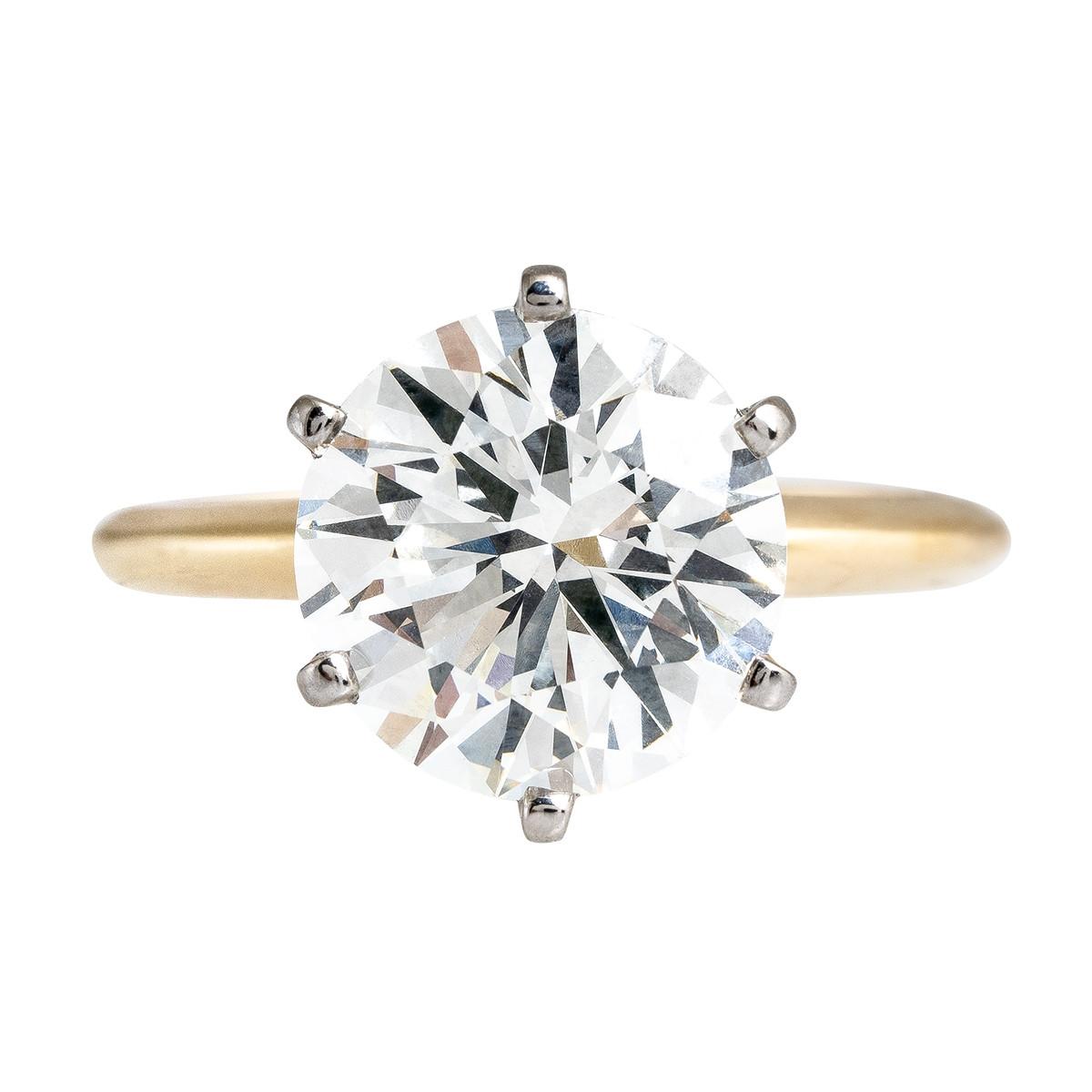 New 4.02 CT Diamond Engagement Ring