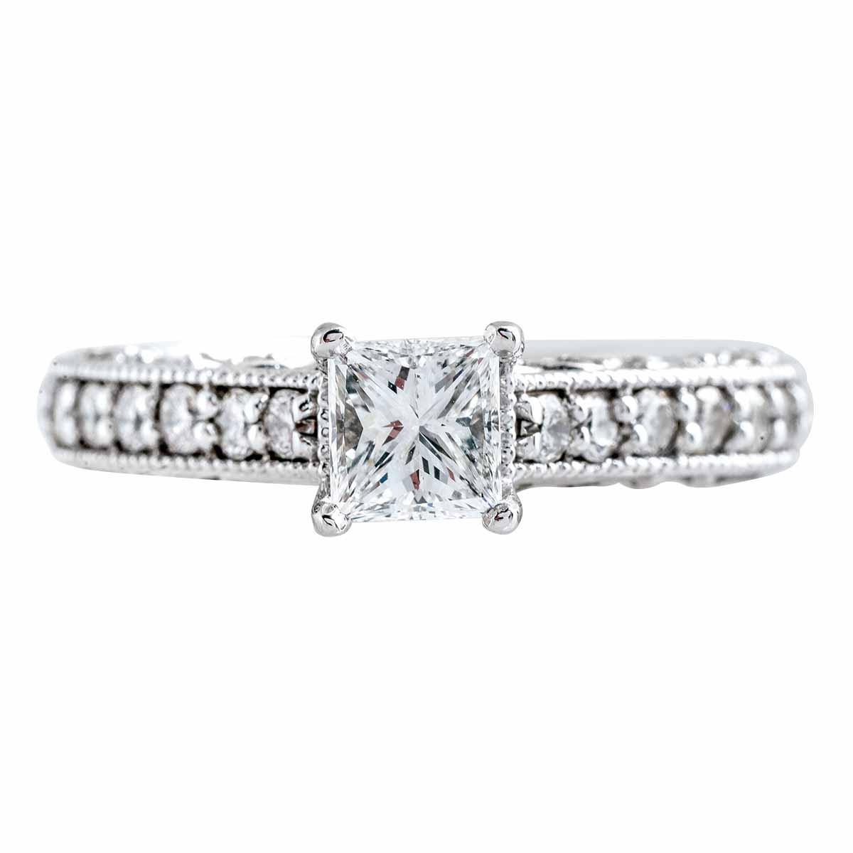 Vintage 1.75 CTW Diamond Engagement Ring