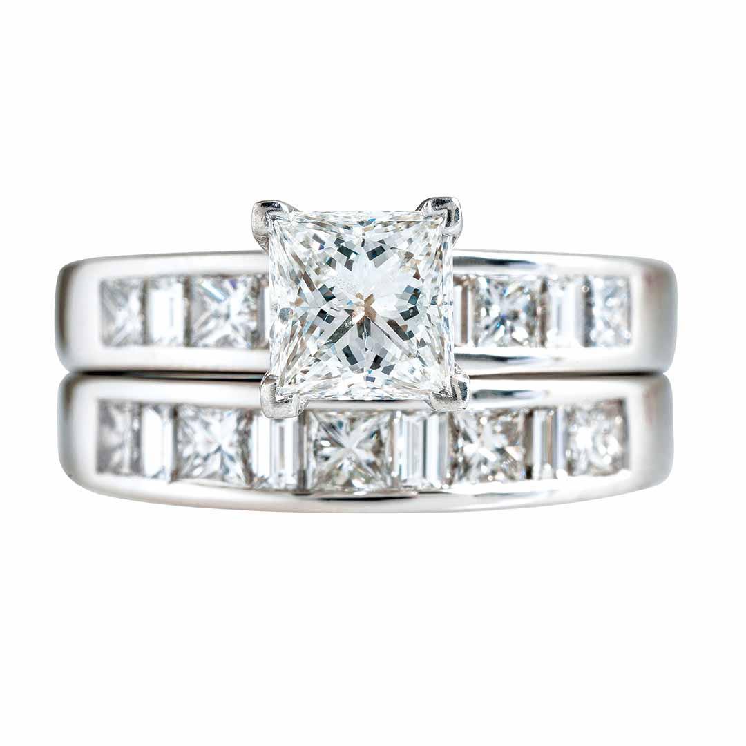 Vintage 2.30 CTW Diamond Wedding Set