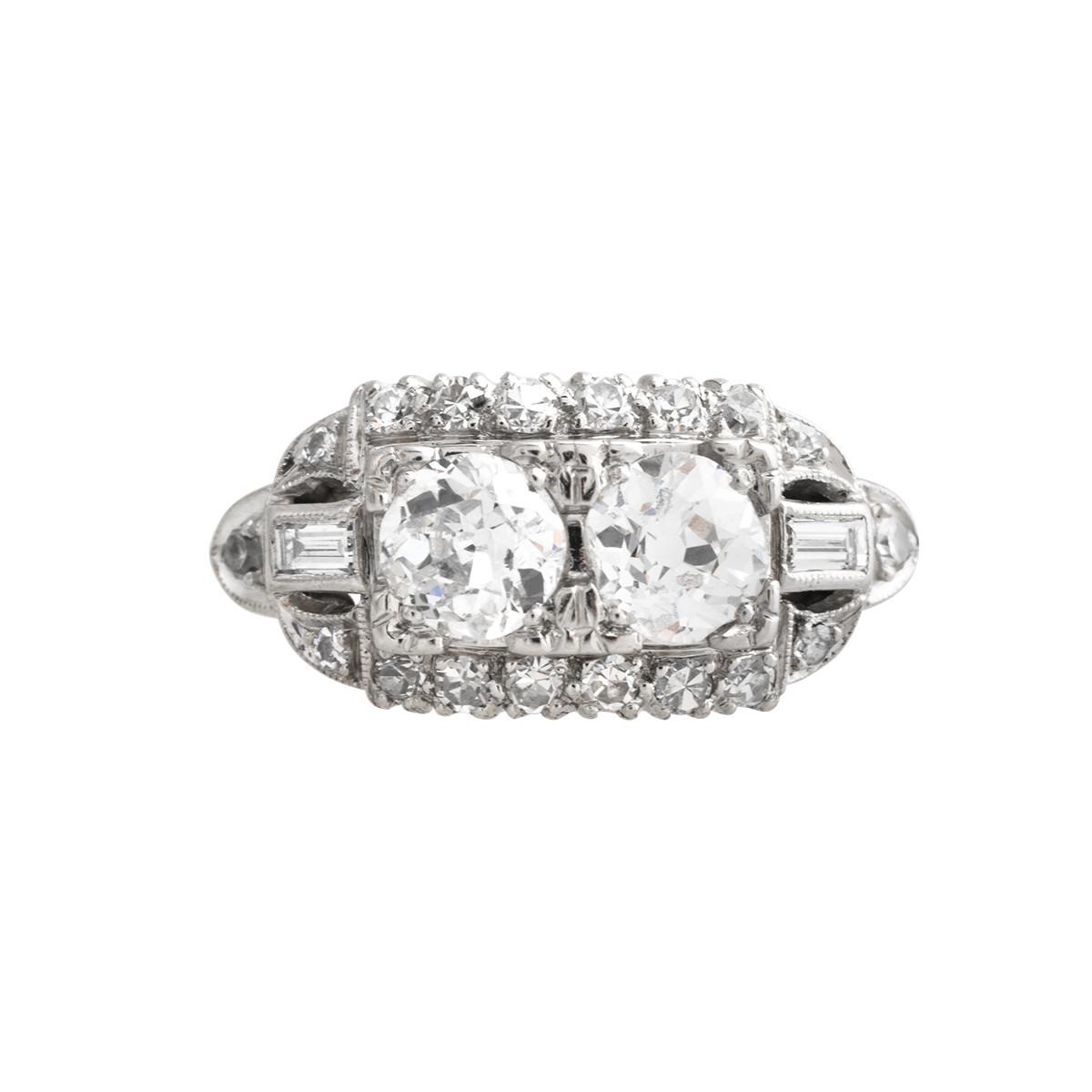 Antique Art Deco 1.67 CTW Engagement Ring