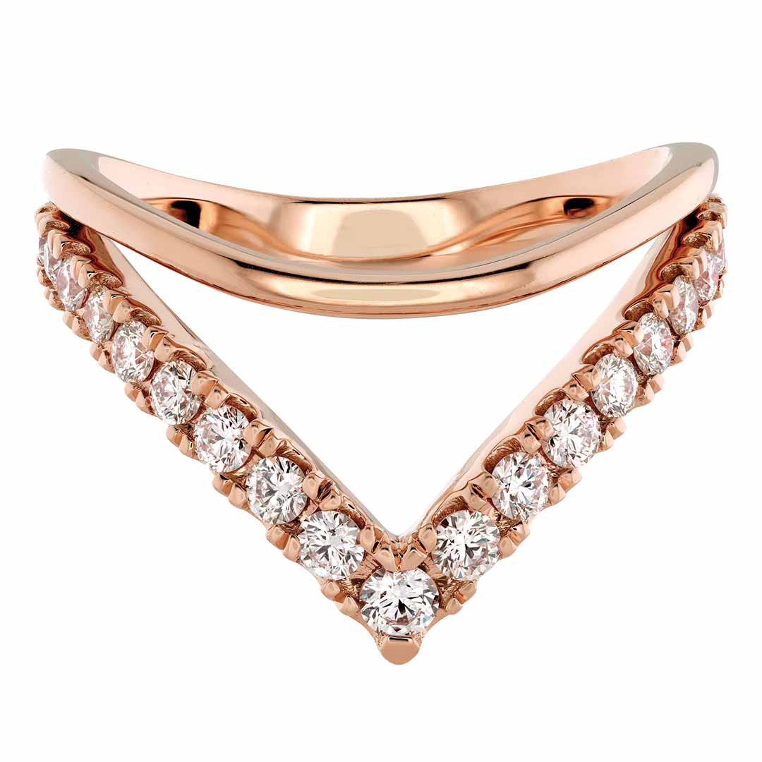New Hearts On Fire® 0.526 CTW Diamond & Pink Sapphire Harley Silhouette Power Band