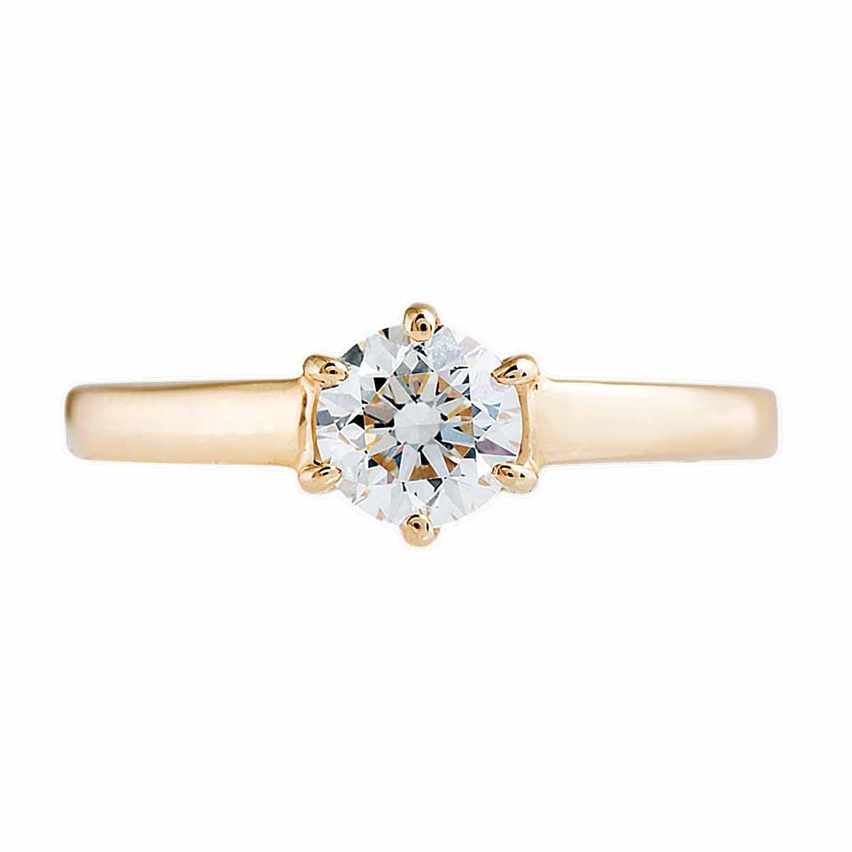 Vintage 0.70 CT Diamond Engagement Ring