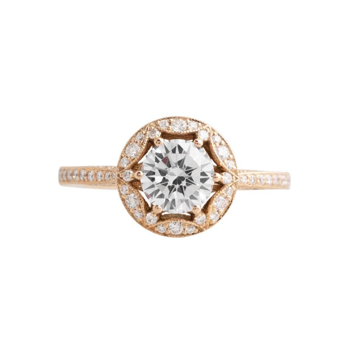 Vintage Tacori 0.33 CTW Diamond Halo Engagement Ring