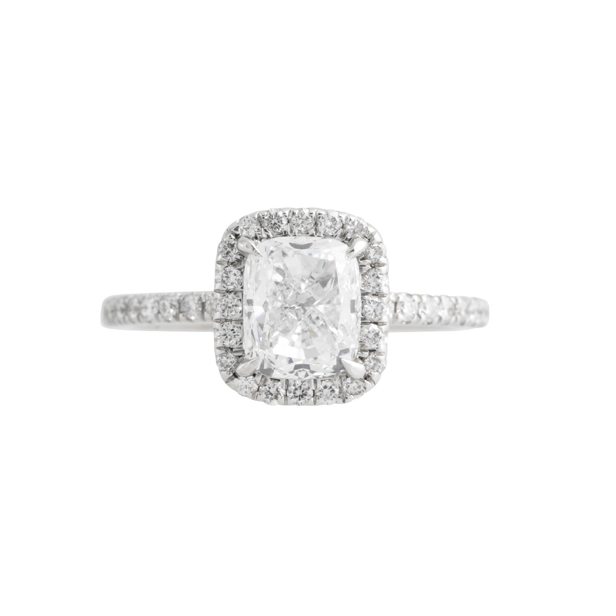 Vintage 2.00 CTW Diamond Halo Engagement Ring