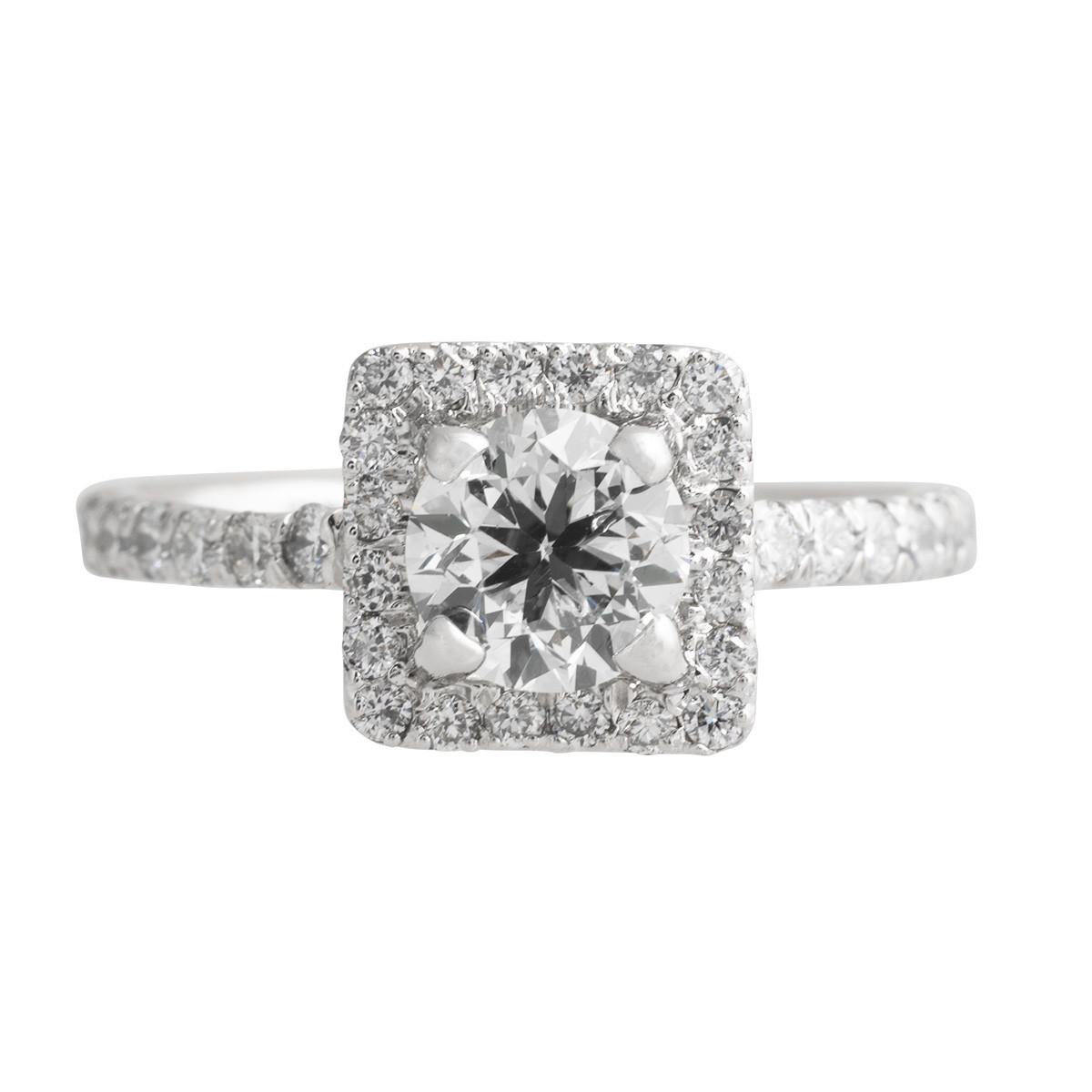 Vintage 1.62 CTW Diamond Halo Engagement Ring