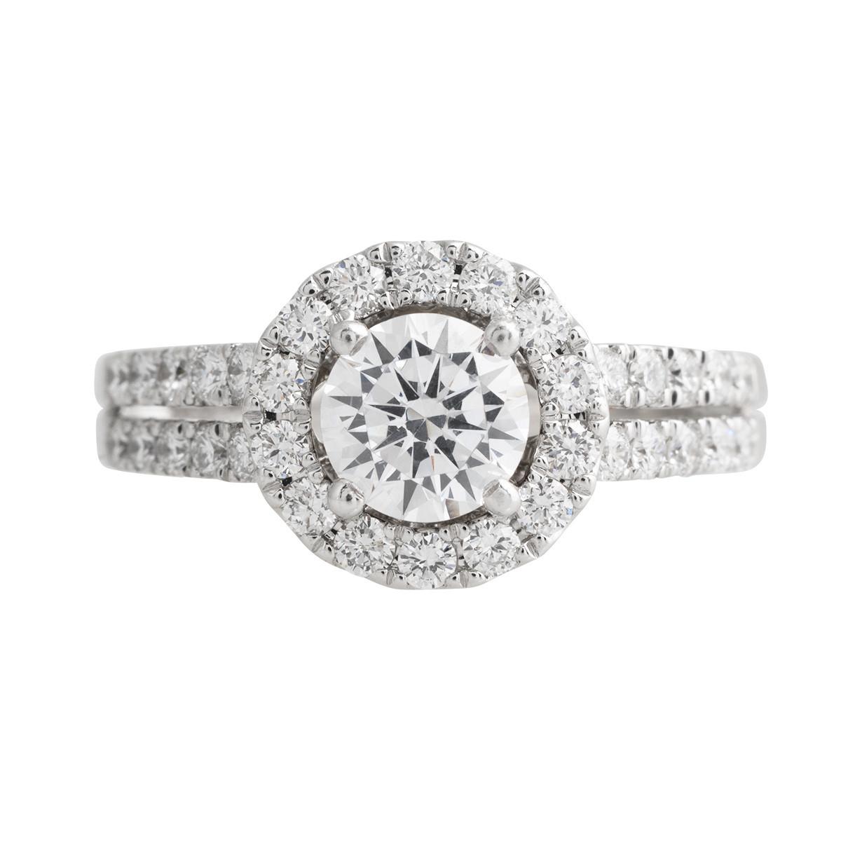 Vintage 0.47 CTW Diamond Halo Engagement Ring