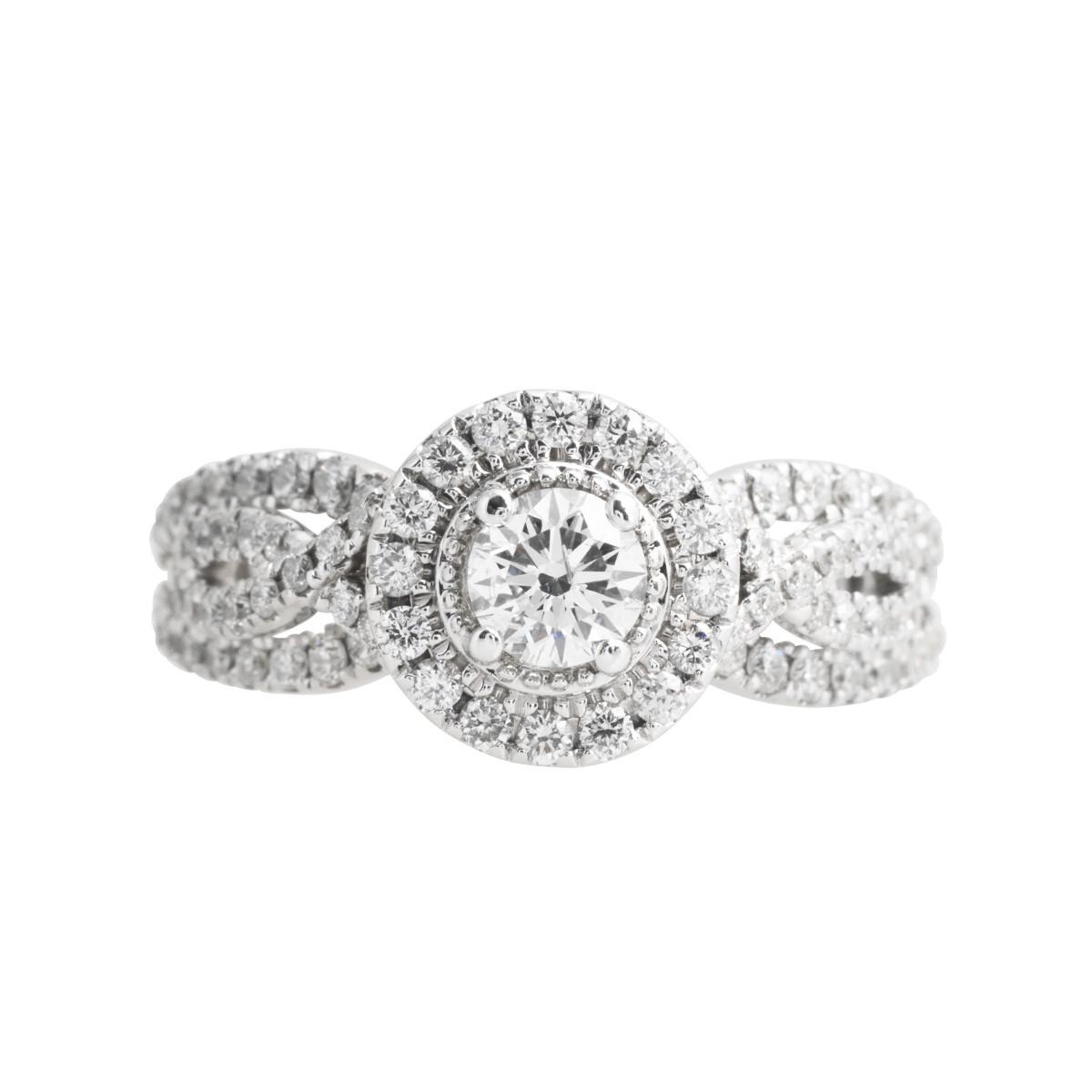 Vintage Vera Wang 1.06 CTW Diamond Halo Engagement Ring