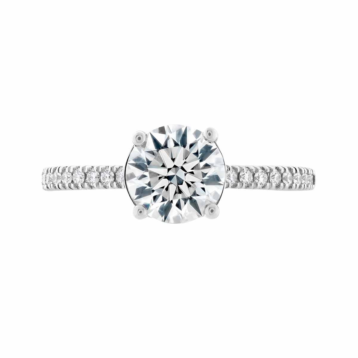 New Hearts On Fire® 0.897 CTW Diamond Sloane Silhouette Engagement Ring