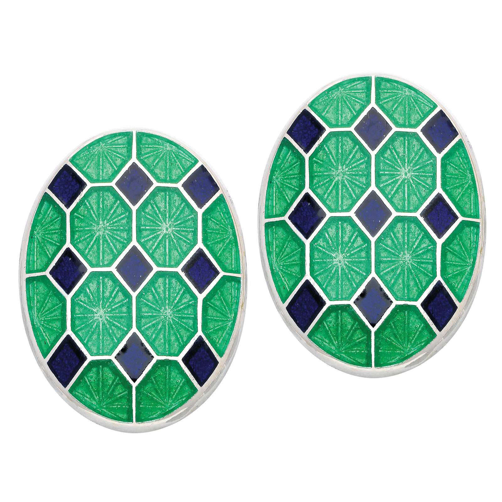 New Deakin & Francis Enamel Patterned Cufflinks