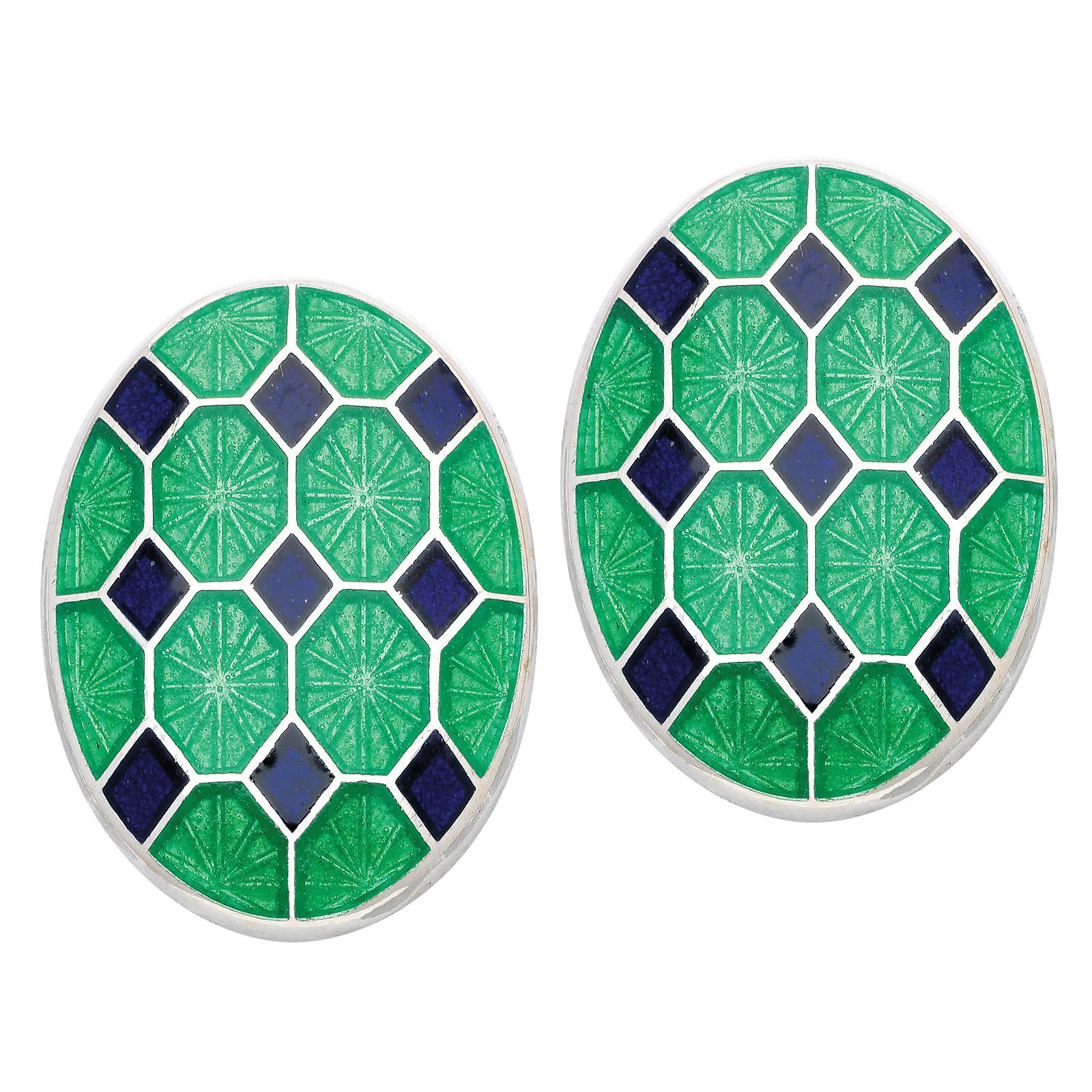 New Deakin & Francis Enamel Patterned Cufflinks