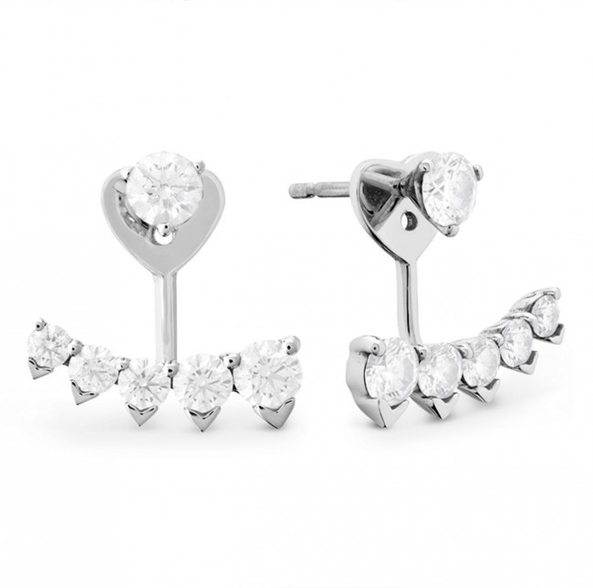 New Hearts On Fire® 1.44 CTW Diamond Trend Pointed Studs & Earring Jackets