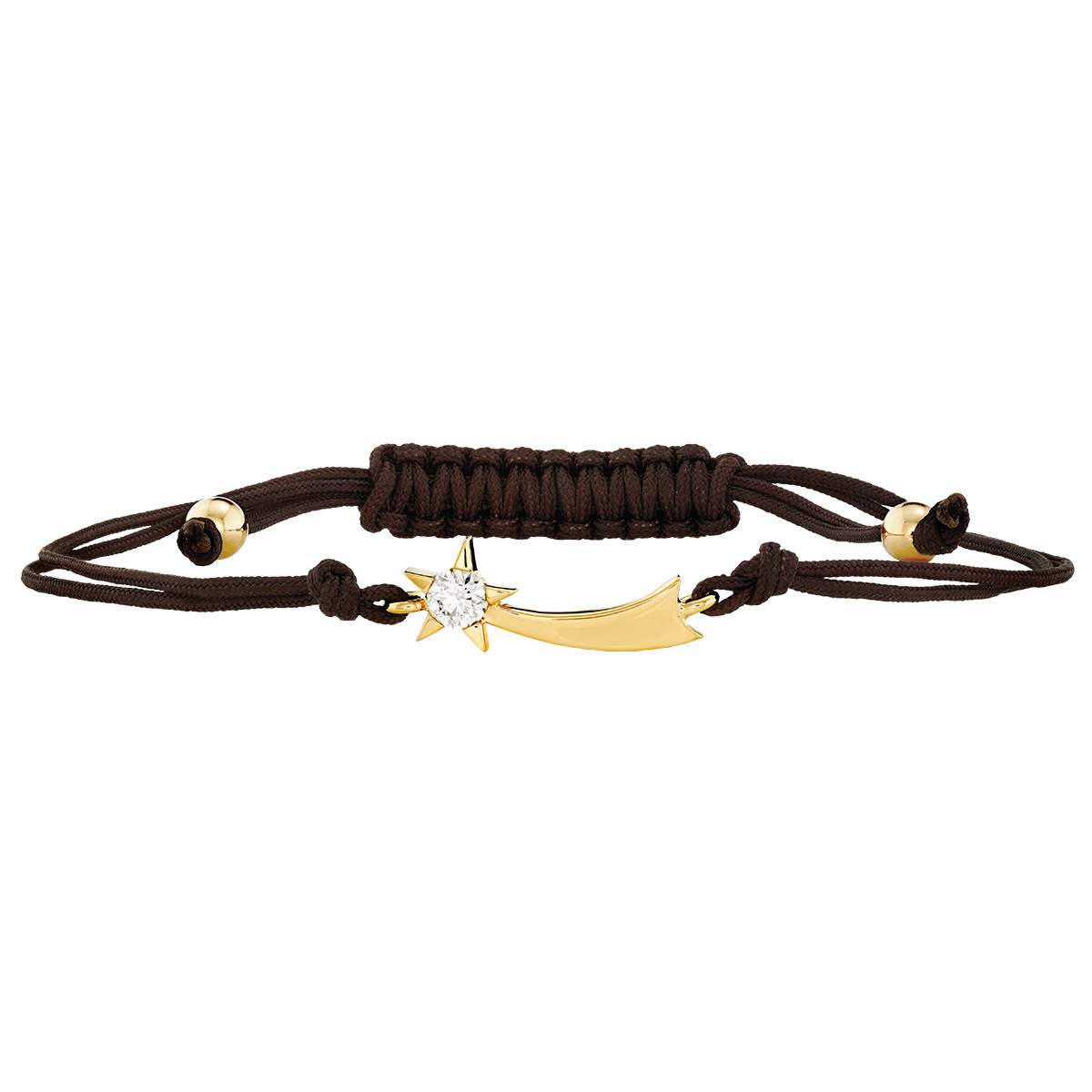 Hearts On Fire® Diamond Illa Comet Brown Cord Bracelet