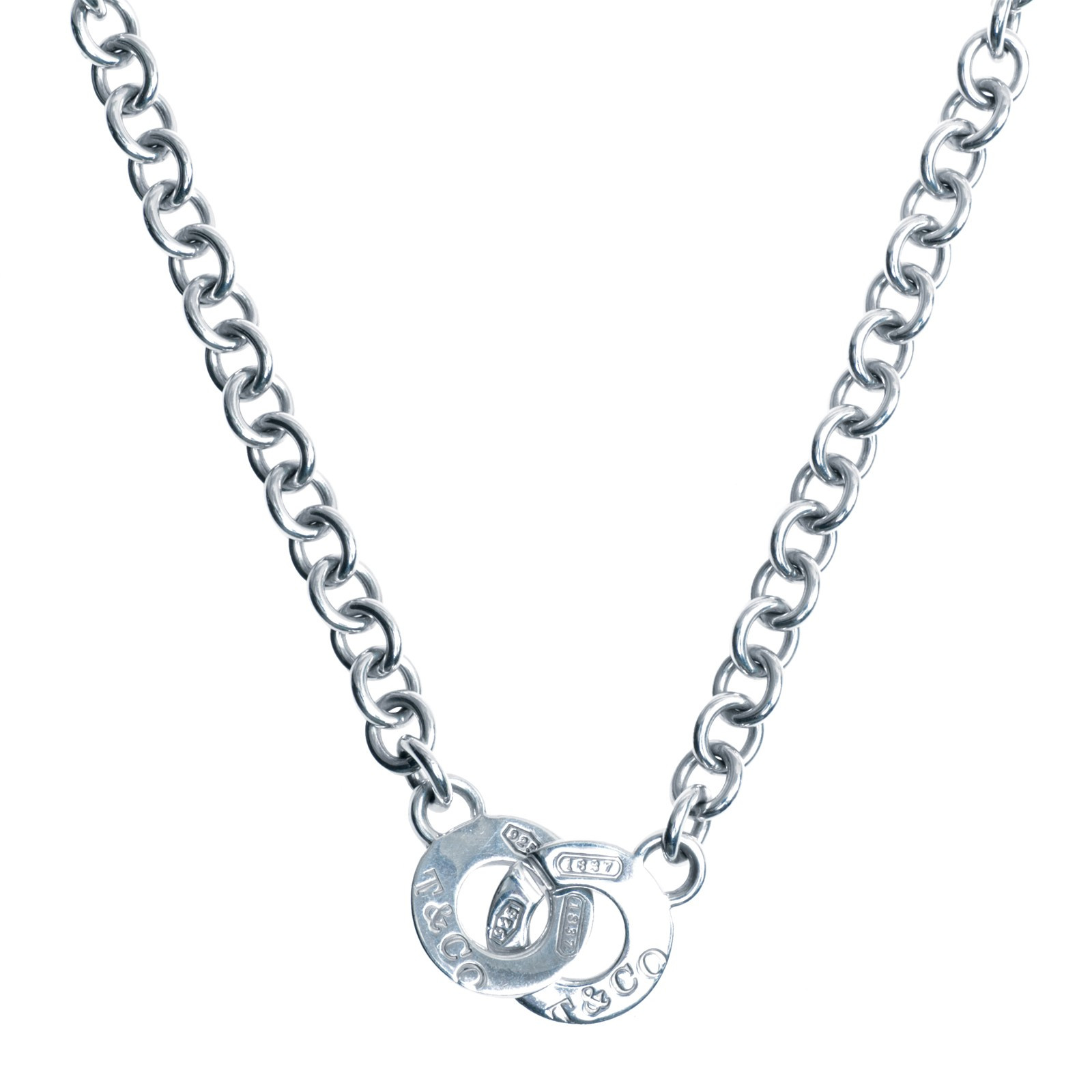 c4b939776 Indentifying header for breadcrumps-wrapper. Home; Vintage Tiffany & Co. 1837  Interlocking Circle Necklace
