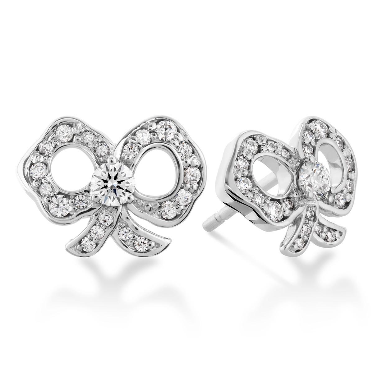 New Hearts On Fire® 0.29 CTW Diamond Lorelei Bow Earrings