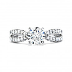 New Hearts On Fire® 0.45 CTW Diamond Envelop Engagement Ring Setting