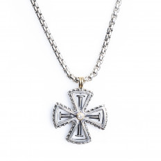 Vintage Konstantino 0.07 CT Diamond Cross Pendant