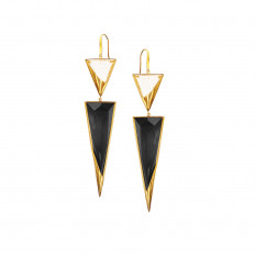 New Lana Jewelry Black Onyx & Crystal Jet Earrings