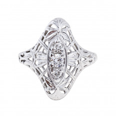 Antique Edwardian 0.16 CTW Diamond Ring