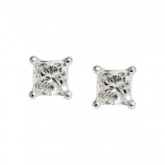 New 0.75 CTW Diamond Stud Earrings