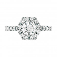 New Hearts On Fire® 0.46 CTW Diamond Halo Ring Setting
