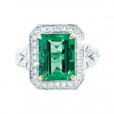 New 6.20 CTW Emerald & Diamond Ring