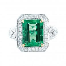 New 6.20 CTW Emerald & Diamond Ring