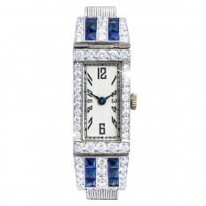 Antique 3.20 CTW Diamond & Sapphire Watch