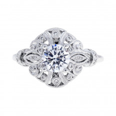 New Beverley K 0.09 CTW Diamond Ring Semi-mount