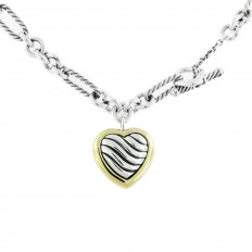 Vintage David Yurman Cable Heart Necklace