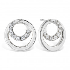 New Hearts On Fire® 0.38 CTW Diamond Optima Circle Earrings