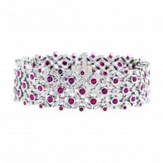 Vintage 2.20 CTW Diamond & Ruby Bracelet