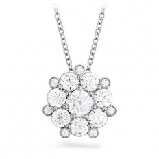 New Hearts On Fire® 1.49 CTW Diamond Beloved Cluster Necklace