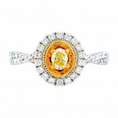 Vintage 0.59 CTW Diamond Halo Engagement Ring