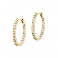 New Mémoire 0.52 CTW Diamond Hoop Earrings