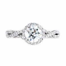 Vintage Verragio 1.21 CTW Diamond Parisian Collection Engagement Ring