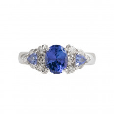 Vintage Le Vian 3.70 CTW Tanzanite & Diamond Ring